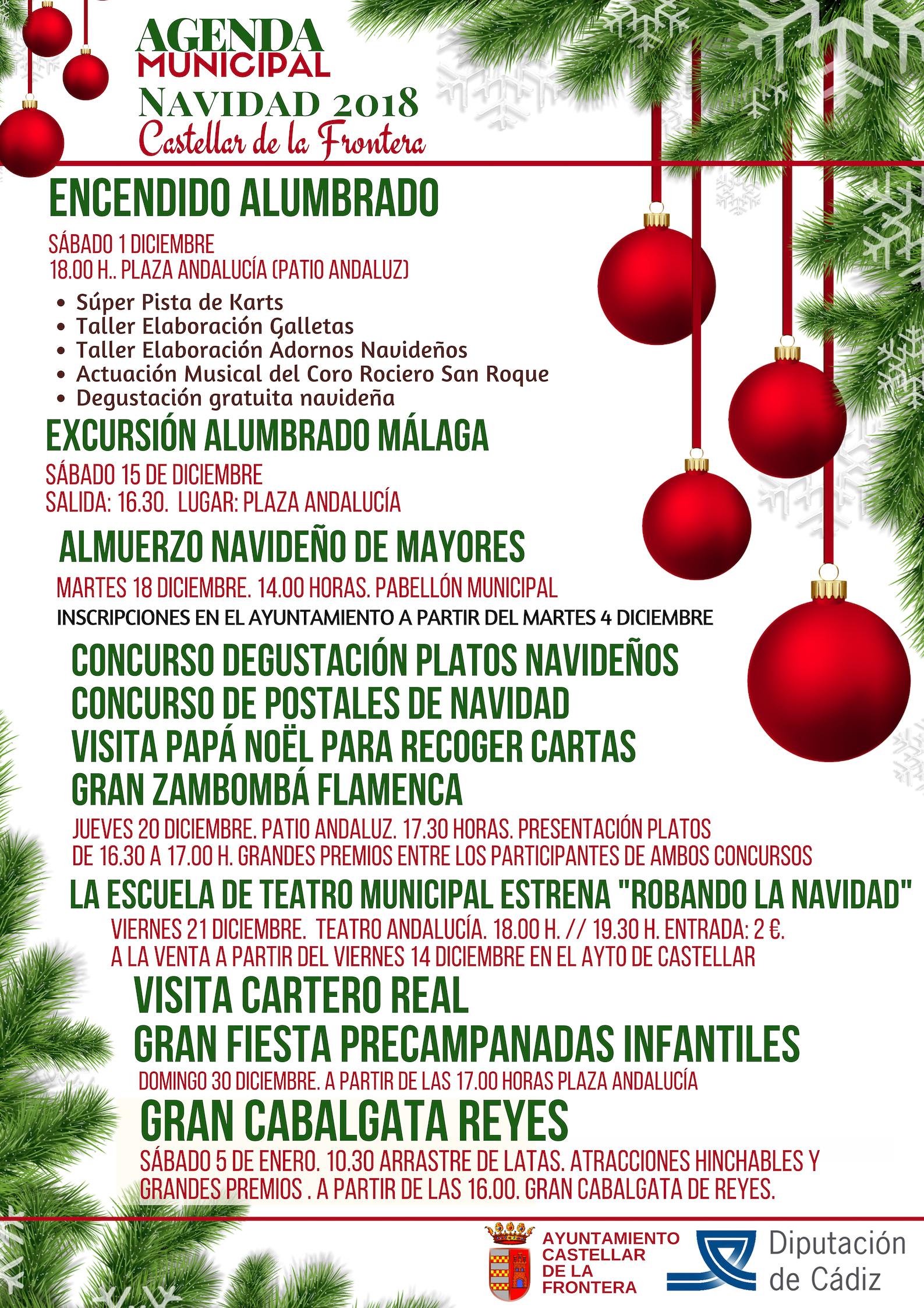 Imagenes De Navidad 2019.Programacion Municipal Navidad 2018 19 Castellar De La Frontera