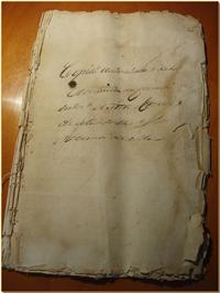 Copia Autorizada de la Escritura de la Concordia que se encuentra en las arcas del Ayuntamiento Castellarense